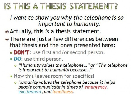 making a thesis statement for a compare and contrast essay